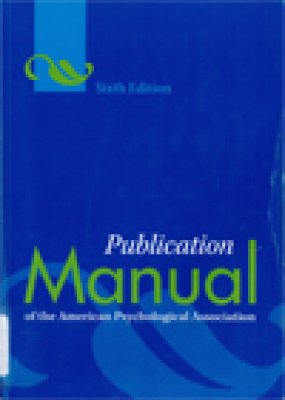 Book Cover: The Publication Manual of the American Psychological Association