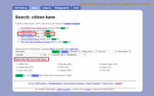 Search results of Citizen Kane